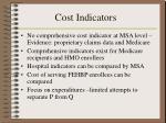 cost indicators
