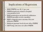 implications of regression1