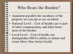 who bears the burden