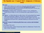 the elgafaji case c 465 07 ecj judgment 17 february 2009