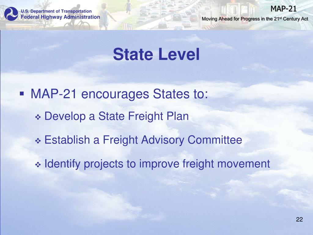Map 21 Act.Ppt Moving Ahead For Progress In The 21 St Century Map 21
