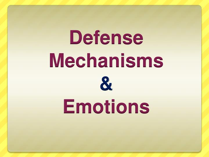 Ppt Defense Mechanisms Emotions Powerpoint Presentation Free