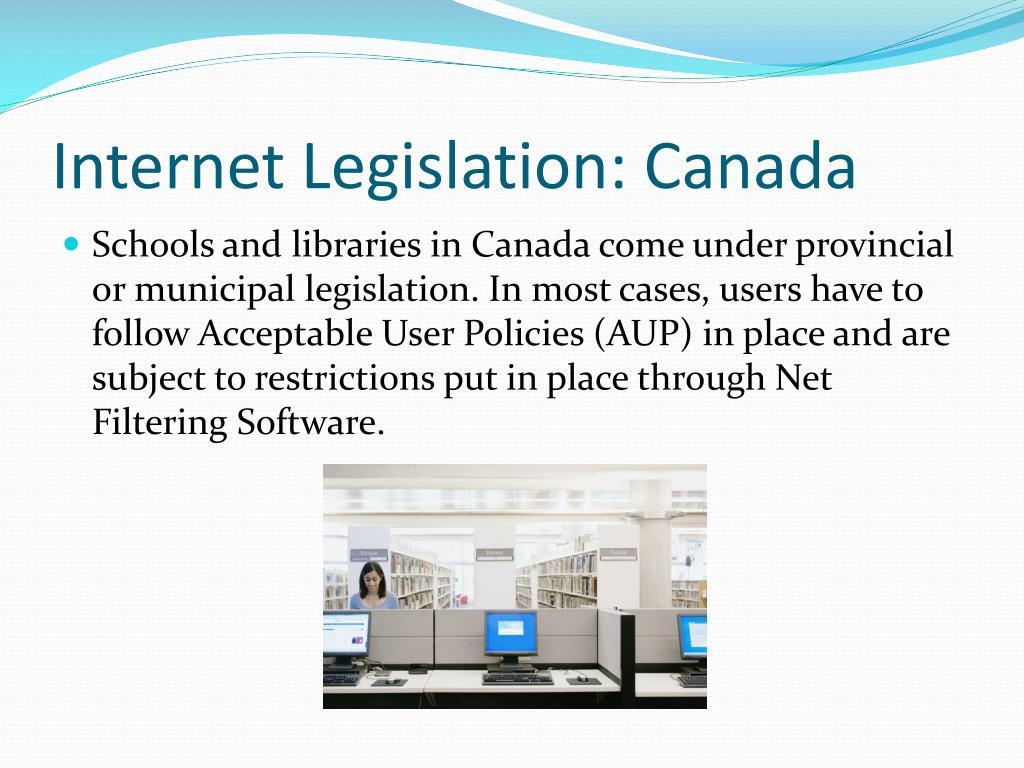 Internet Legislation: Canada