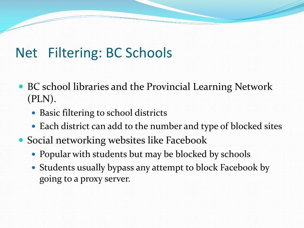 Net   Filtering: BC Schools
