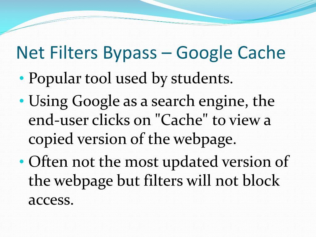 Net Filters Bypass – Google Cache