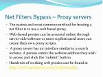 net filters bypass proxy servers