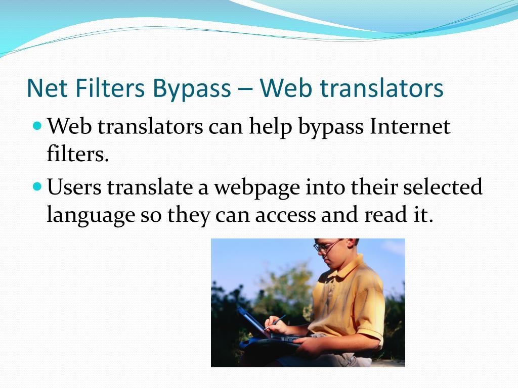 Net Filters Bypass – Web translators
