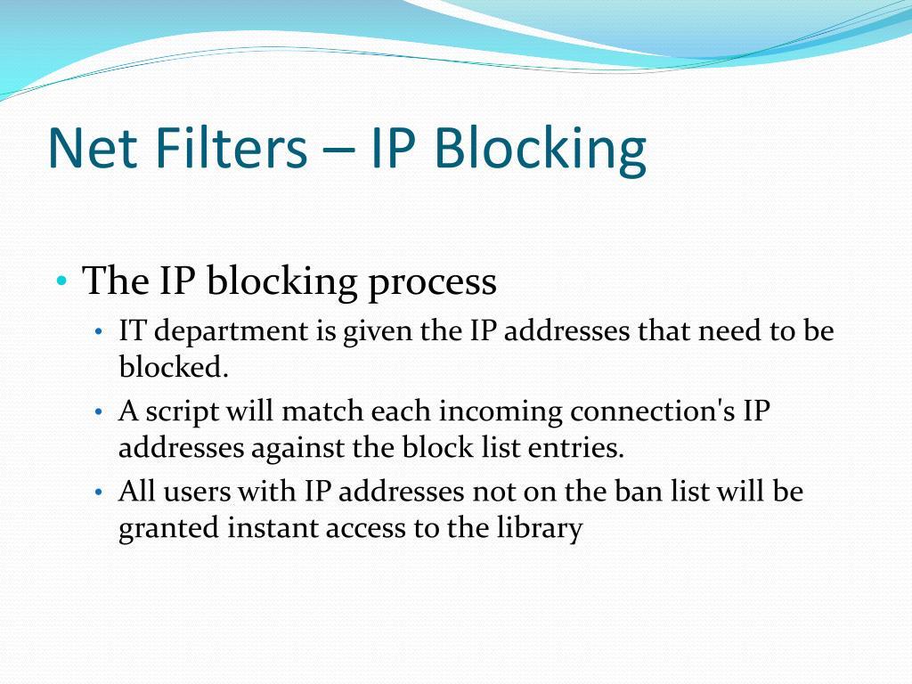 Net Filters – IP Blocking