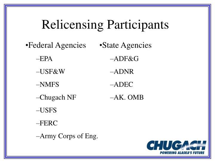 Relicensing Participants