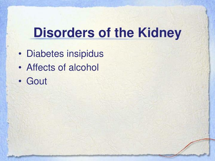 Disorders of the Kidney