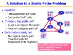 a solution to a stable paths problem