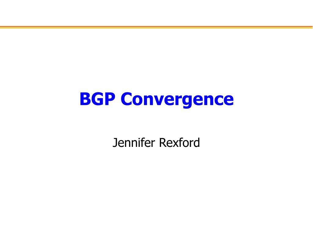 bgp convergence l.