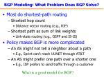 bgp modeling what problem does bgp solve