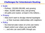 challenges for interdomain routing