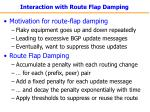 interaction with route flap damping