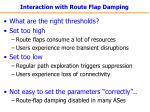 interaction with route flap damping26