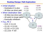 routing change path exploration21