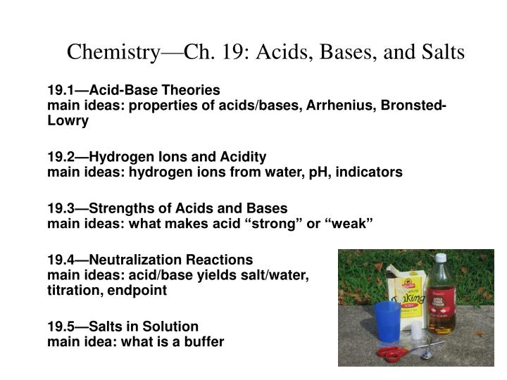 chemistry ch 19 acids bases and salts n.