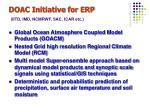 doac initiative for erp iitd imd ncmrwf sac icar etc