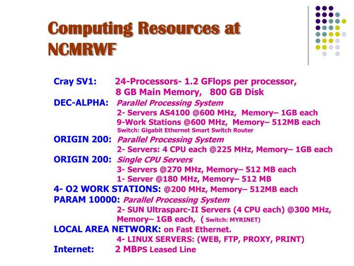 Computing Resources at