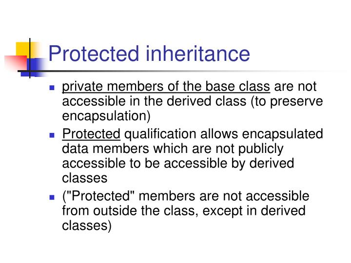 Protected inheritance
