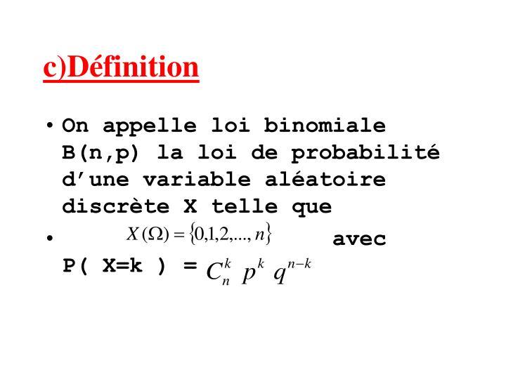 c)Définition