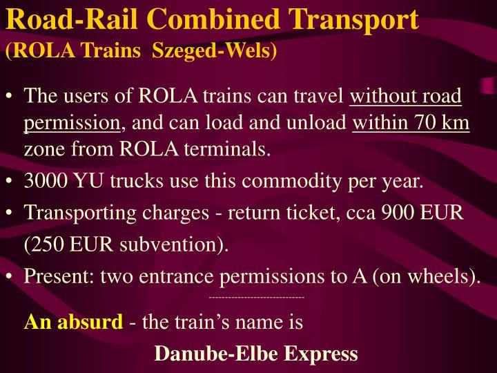 Road-Rail Combined Transport