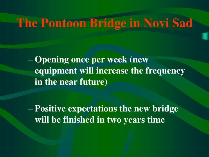 The Pontoon Bridge in Novi Sad