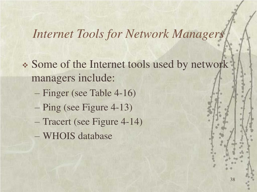 Internet Tools for Network Managers