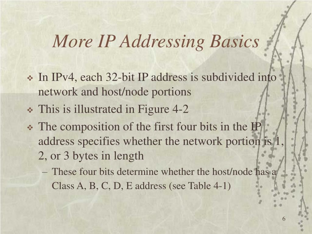 More IP Addressing Basics