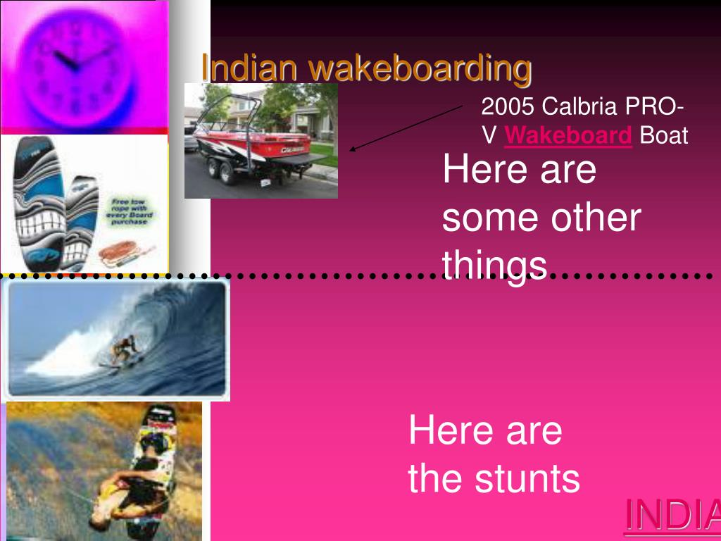 Indian wakeboarding