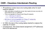 cidr classless interdomain routing