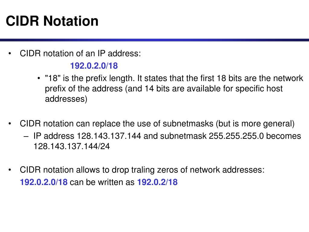 CIDR Notation