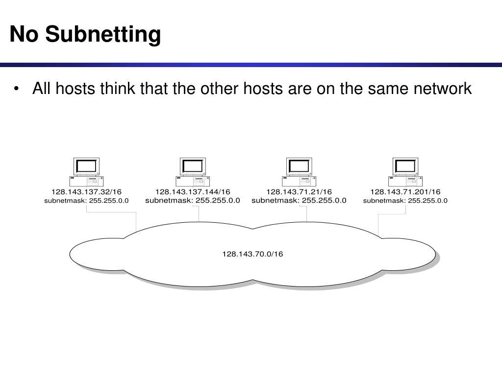 No Subnetting