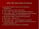 after the june days in france