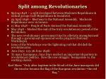 split among revolutionaries