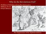 why do the revolutions fail