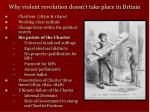 why violent revolution doesn t take place in britain