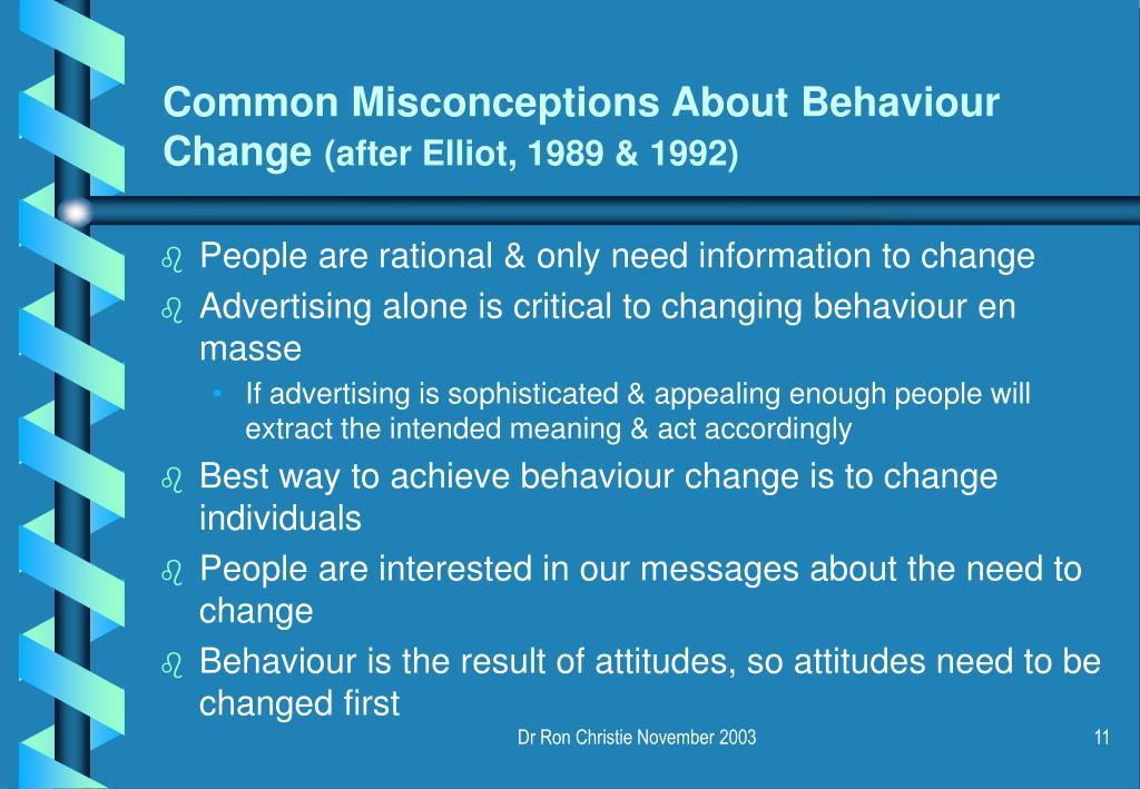 Common Misconceptions About Behaviour Change