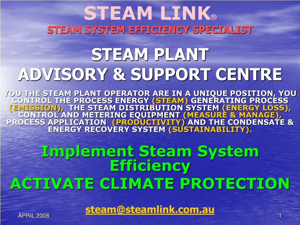 steam plant advisory support centre l.