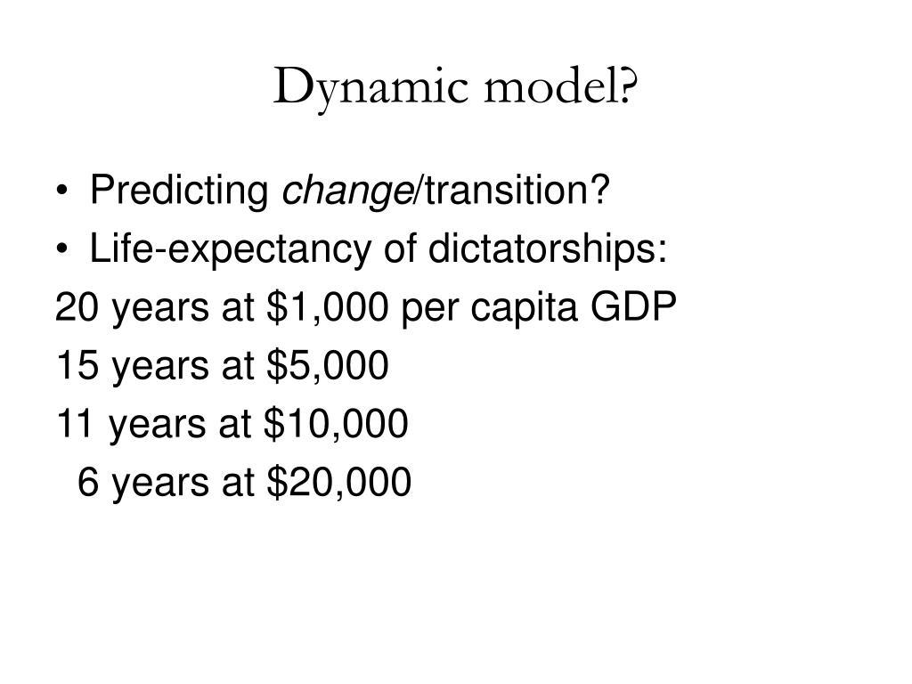 Dynamic model?
