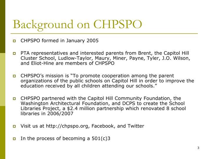 Background on chpspo