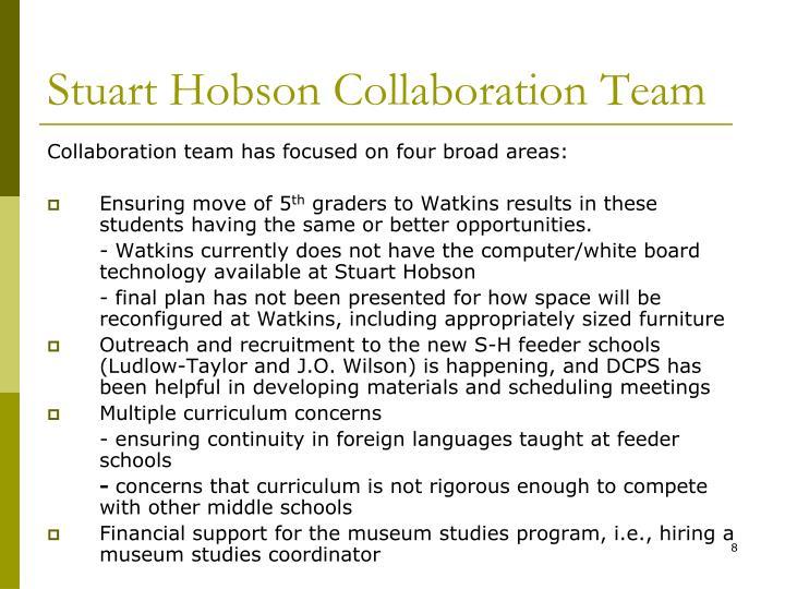 Stuart Hobson Collaboration Team
