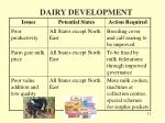 dairy development