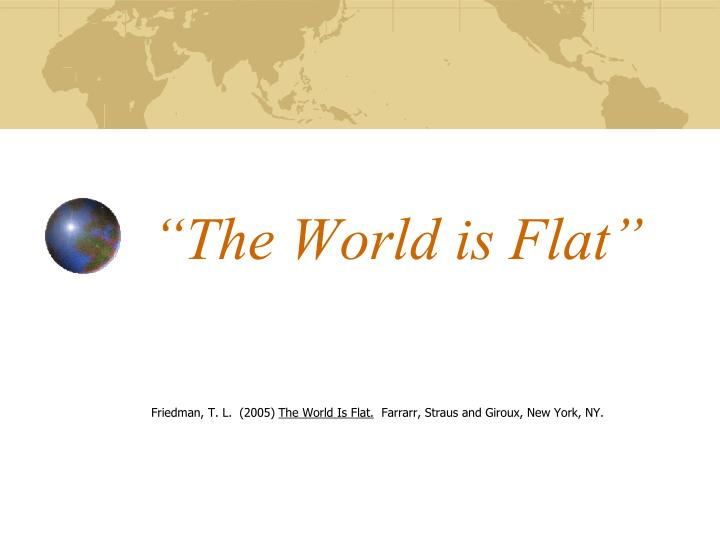 the world is flat n.