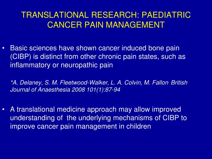 management of pain and stress in palliative care pdf