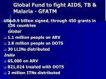 global fund to fight aids tb malaria gfatm
