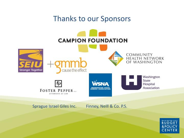 thanks to our sponsors n.