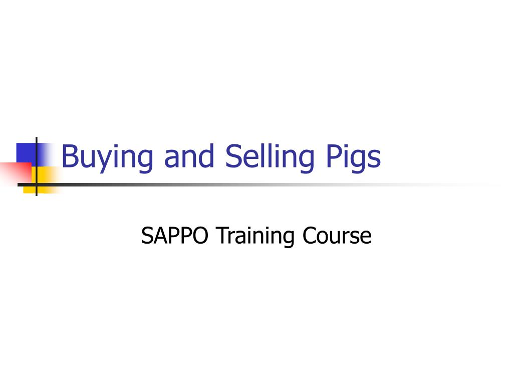 buying and selling pigs l.