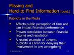 missing and hard to find information cont56